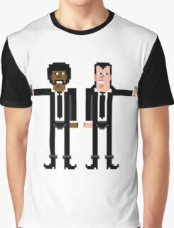 Pixel Vincent and Jules. Pulp Fiction. Graphic T-Shirt