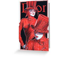 The Devil in me 2 DIOR Greeting Card