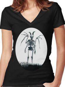 The Jersey Devil Is My Friend Women's Fitted V-Neck T-Shirt