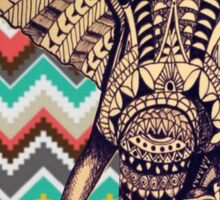 elephant aztec pattern Sticker