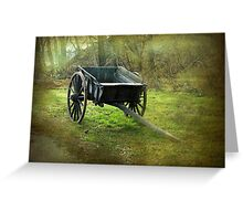 Historic agricultural vehicle, Mount Vernon Greeting Card