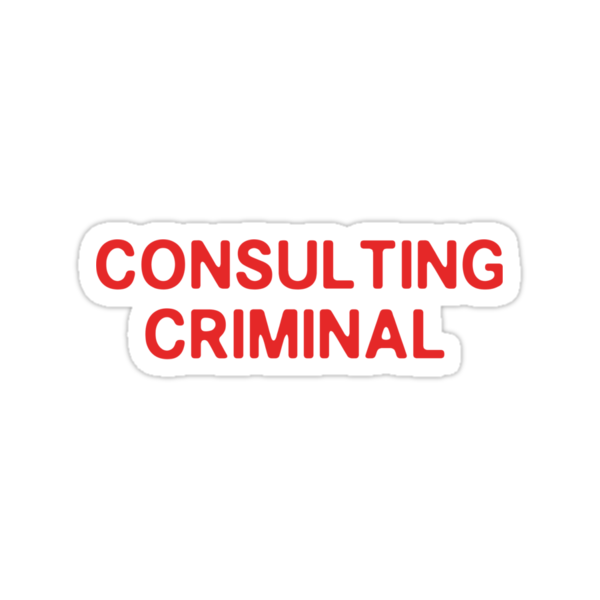 consulting criminal sticker by nimbusnought