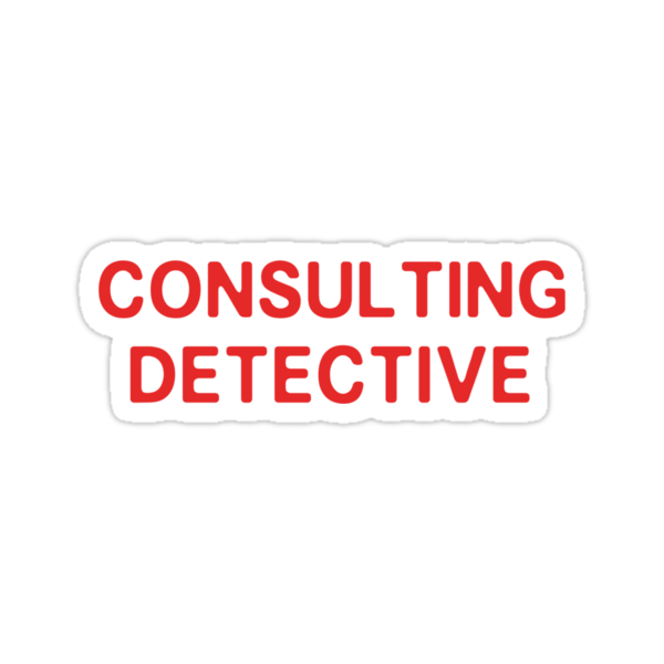 Consulting detective sticker by nimbusnought