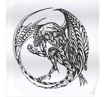 dragon tattoo ink design  Poster