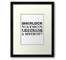 Sherlock Team Framed Print