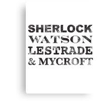 Sherlock Team Canvas Print