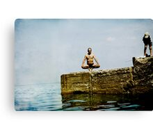 Yoga by the sea Canvas Print