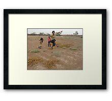 Desert games Framed Print