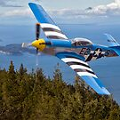 P-51 over Orcas Island by Bryan Peterson
