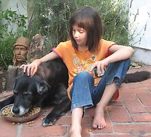 Young Girl and Old Dog by MihrimahGhaziya