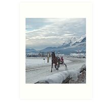 Trotting race,Boxing day Austria. Art Print