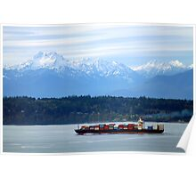 Puget Sound and the Olympic Mountains Poster