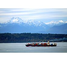 Puget Sound and the Olympic Mountains Photographic Print