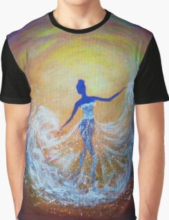 Dancer in White Dress Graphic T-Shirt