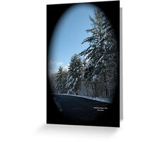 A touch of snow Greeting Card