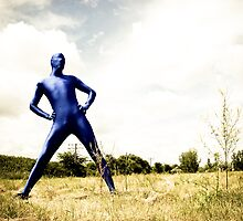 A Day in Blue Zentai lomo 01 by mdkgraphics