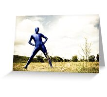 A Day in Blue Zentai lomo 01 Greeting Card