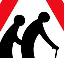 Elderly People (I), Traffic Sign, UK Sticker
