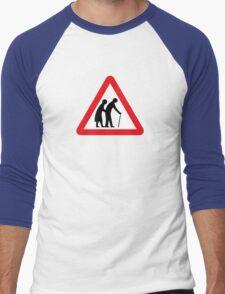 Elderly People (I), Traffic Sign, UK Men's Baseball ¾ T-Shirt