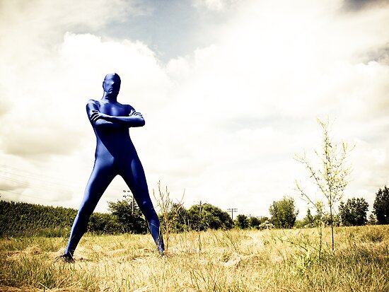 A Day in Blue Zentai lomo 02 by mdkgraphics