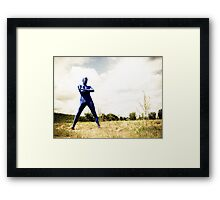 A Day in Blue Zentai lomo 02 Framed Print