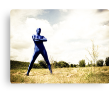 A Day in Blue Zentai lomo 02 Canvas Print