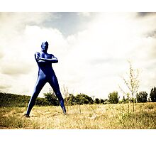 A Day in Blue Zentai lomo 02 Photographic Print