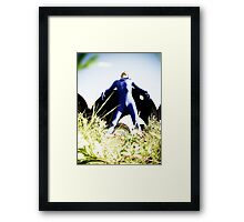 A Day in Blue Zentai lomo 03 Framed Print