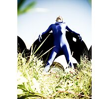 A Day in Blue Zentai lomo 03 Photographic Print