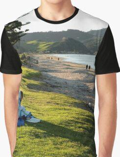 Beautiful Whitianga beach New Zealand Graphic T-Shirt