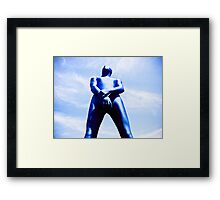 A Day in Blue Zentai lomo 06 Framed Print
