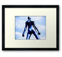 A Day in Blue Zentai lomo 08 Framed Print