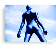 A Day in Blue Zentai lomo 08 Canvas Print