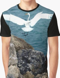 GREAT WHITE HERON Graphic T-Shirt