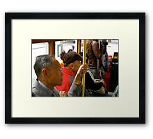 Riding the tram II Framed Print