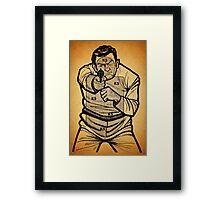 Bad Guy Target Framed Print
