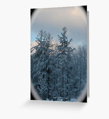 Covered branches Greeting Card