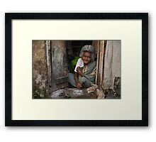 A Warm Smile Framed Print