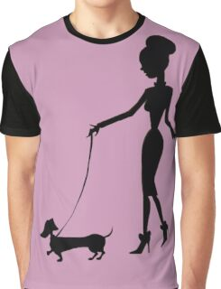 Flaunting The Pooch (violet) - Dachshund Sausage Dog Graphic T-Shirt
