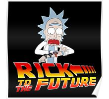 Rick and Morty Back to the future Poster