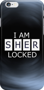 I AM SHER - LOCKED iPhone Case by curiousfashion