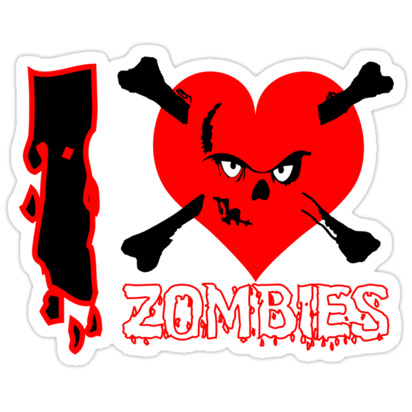 I heart zombies by Nhan Ngo