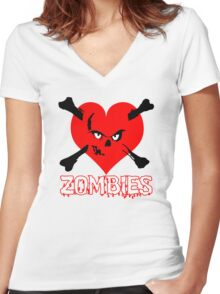 Zombies Women's Fitted V-Neck T-Shirt