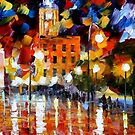 THE SQUARE OF REFLECTIONS - LEONID AFREMOV by Leonid  Afremov