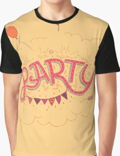 Party Hand-Lettering Graphic T-Shirt