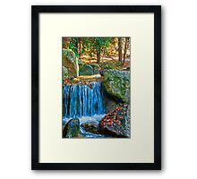 Blue Water Spring Framed Print