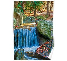 Blue Water Spring Poster