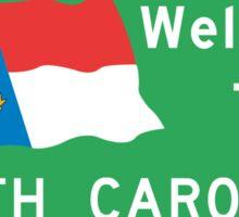 Welcome to North Carolina, Road Sign, USA  Sticker