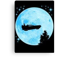 Ufo Car Back to the future Canvas Print