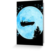 Ufo Car Back to the future Greeting Card